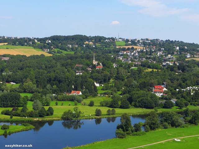"""view of the town of Blankenstein from the Blankenstein castle tower"""