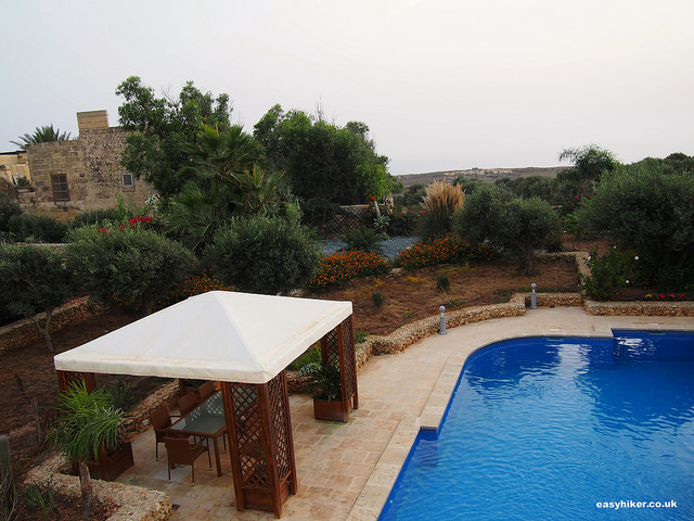"""Swimming pool of The Almonds Farmhouse in Gozo"""