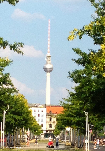 """Radio tower along the Berlin Wall Trail"""
