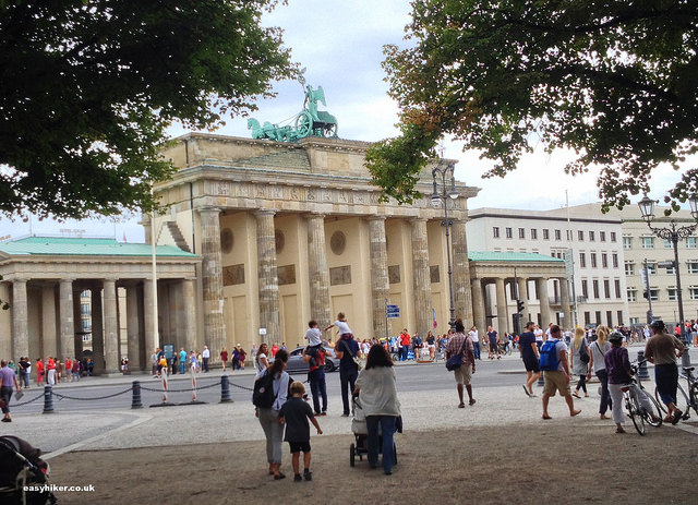 """Brandenburger Gate along the Berlin Wall trail"""