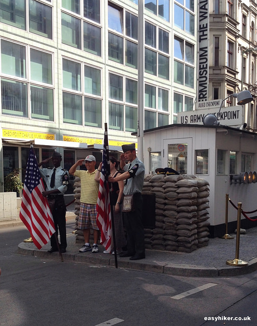 """Checkpoint Charlie along the Berlin Wall hike"""