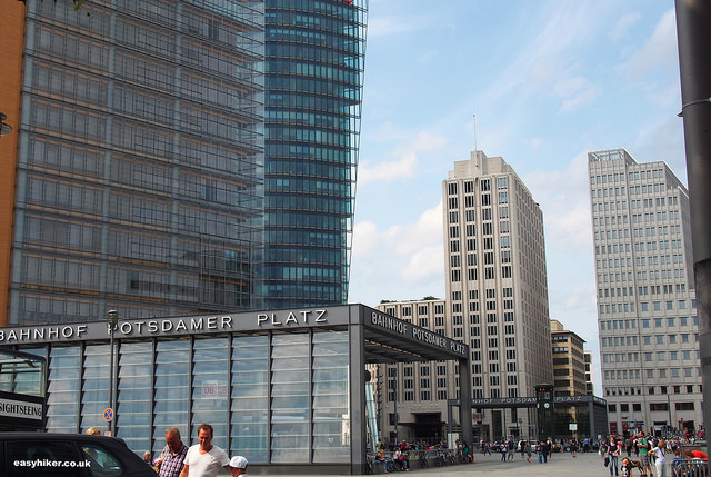 """Potsdamer Platz along the Berlin Wall Trail"""