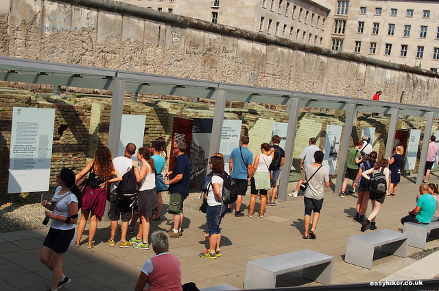 """Open-air gestapo museum along the Berlin Wall hike"""