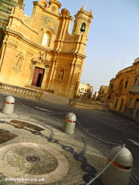 """Church and a piazza in Gozo"""
