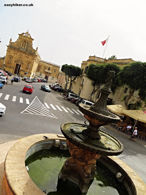 """A town piazza in Gozo"""