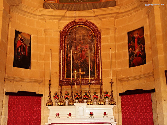 """Inside St Dmitri chapel in Gozo"""