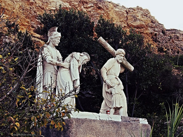 """another Way of the Cross scene on the blood, sweat and sunburn hike in Gozo"""