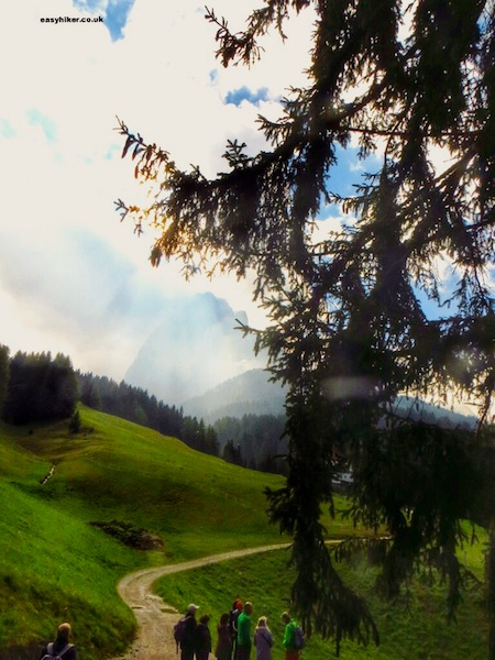 """Dolomites hills are alive on a hike to the slopes of Monte Pana."""