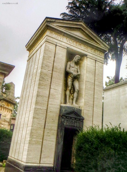 """a tomb in the Cimitero Monumentale in Milan"""