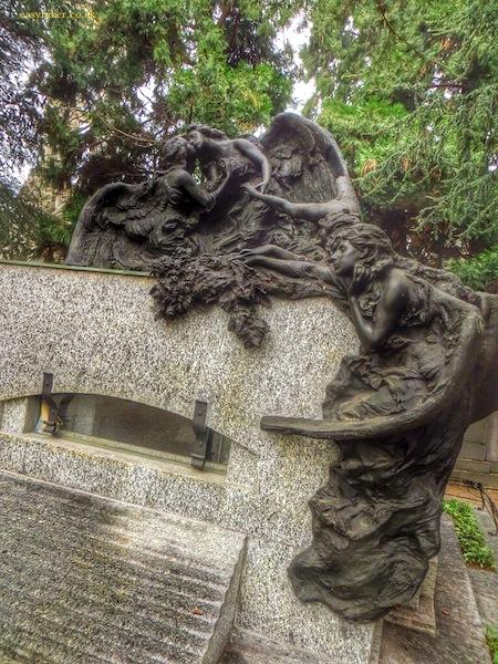 """""""a grave in Cimitero Monumental in Milan"""""""