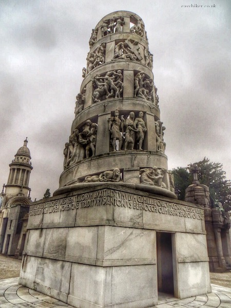 """tower as tomb in Cimitero Monumentale in Milan"""