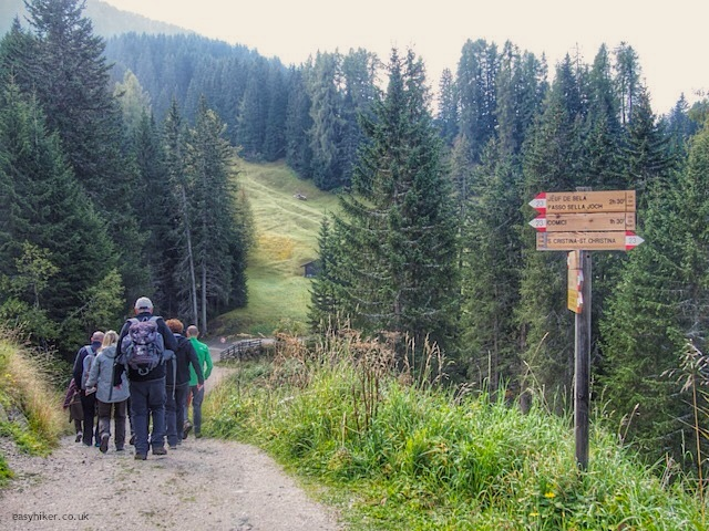 """""""Hiking group composed of guest of Hotel Adler Dolomiti Premier Hiking Hotel in Val Gardena"""""""