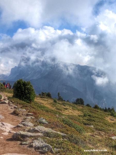 """Geisslerspitzen rock formation in the Italian Dolomites"""