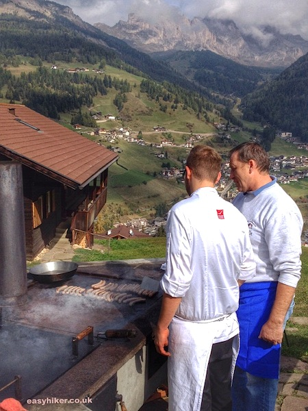 """Dolomites hills are alive with the sizzling of sausages"""
