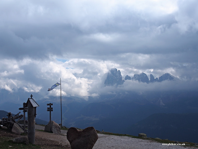 """""""Rasciesa trail along the Italian Dolomites in Val Gardena"""""""