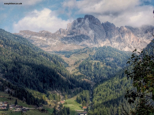 """The Dolomites seen from the slopes of Monte Pana"""