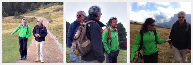 """Pauli, Thaddaeus, Verena in the Italian Dolomites hike"""