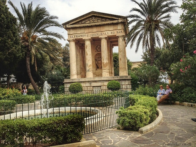 """Barraca garden to rest in after two hours in Valletta"""