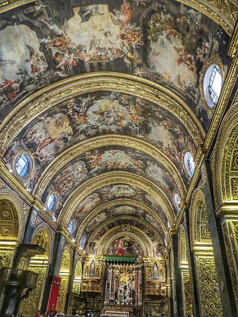 """inside St John's Cathedral in Valletta"""