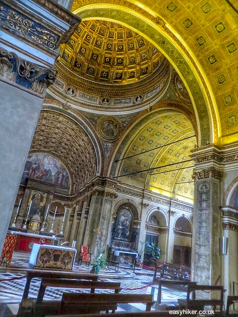 """inside the Santa Maria presso San Satiro church in Milan"""