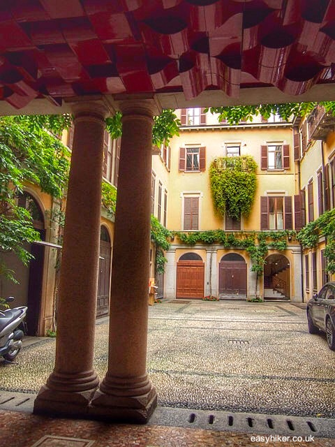 """a private courtyard in Milan"""
