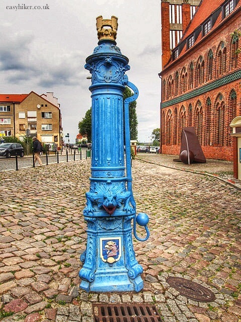 """an old water pump you can see with two hours in Szczecin"""