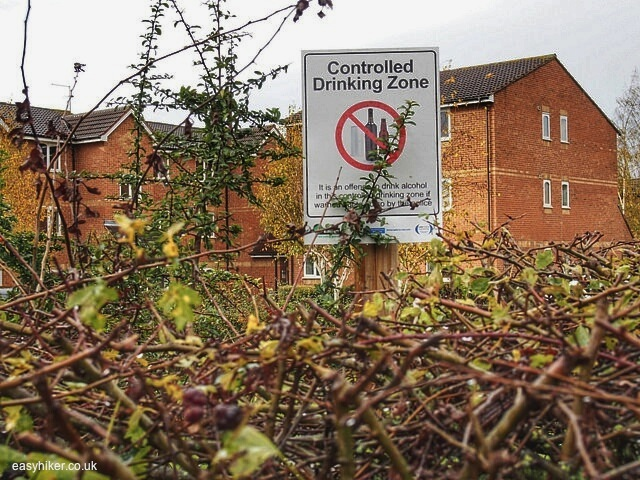 """Urban signs along the canal of Horsenden Hill near London"""