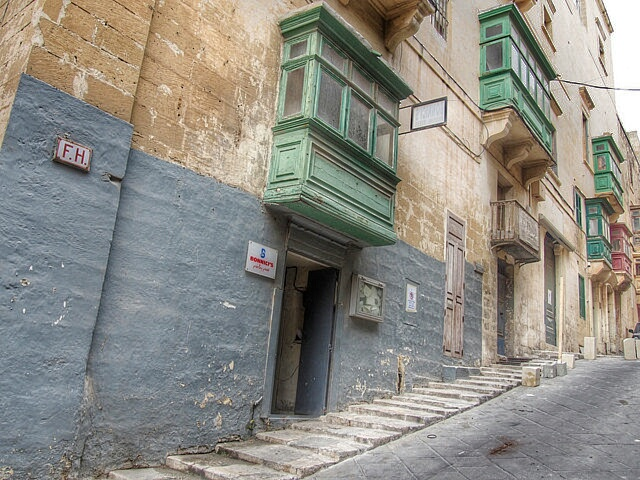"""""""one of the reduced in size stairways of Valletta"""""""