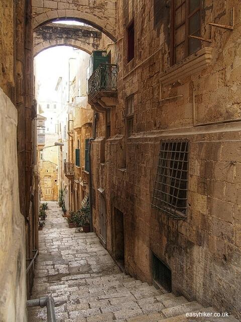 """""""One of the narrow stairways of Valletta in Malta"""""""