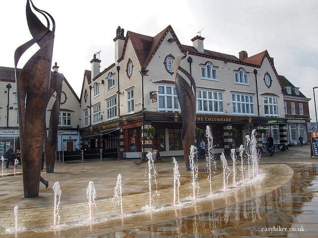 """Letchworth town centre - the first Garden City in the UK"""