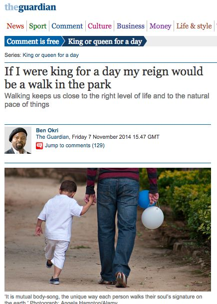 """Walking with Ben Okri"""