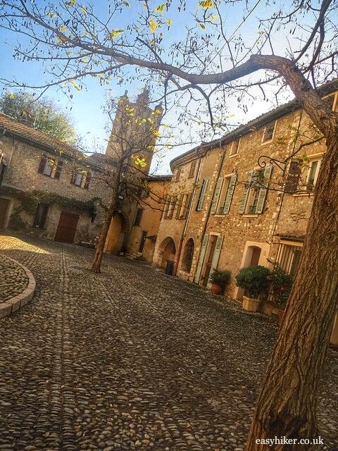 """the courtyard atop medieval town Haut de Cagnes"""