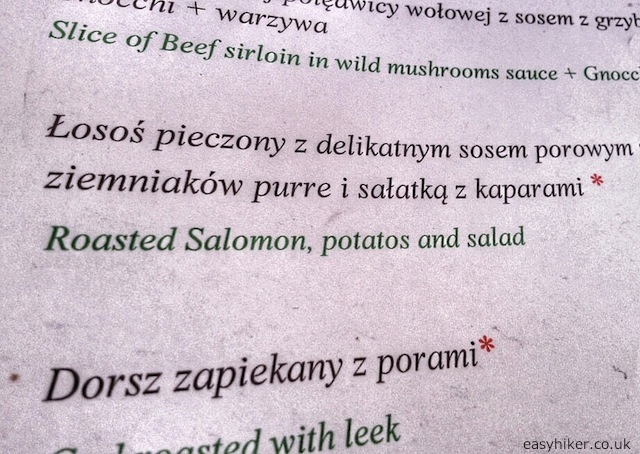 """Roasted Salomon in the menu"""
