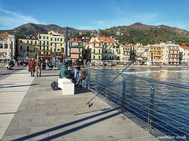 """Pier of Alassio in the Italian Riviera"""