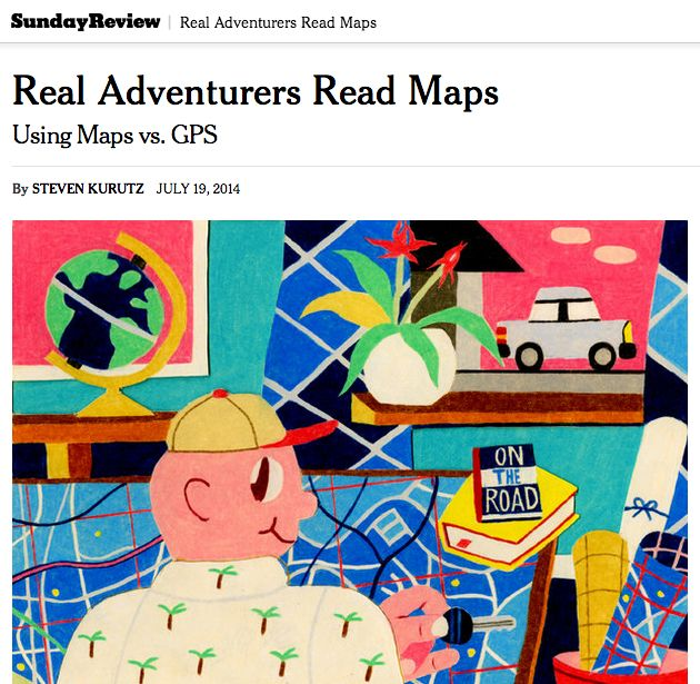 """Real Adventurers read maps"""