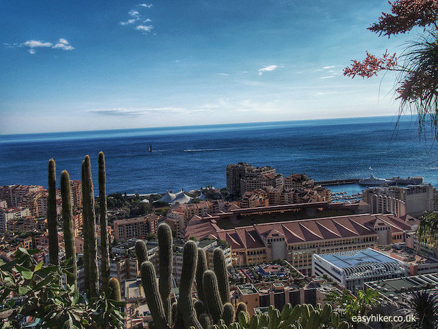 """Monaco football stadium seen from Jardin Exotique"""