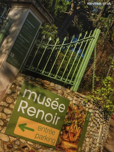 """Gate leading to entrance to Musee Renoir in Cagnes sur Mer"""