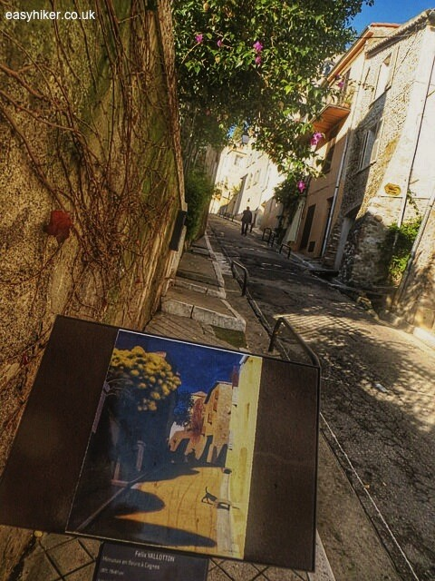 """French Riviera on canvas - stairway and street in Haut de Cagnes"""