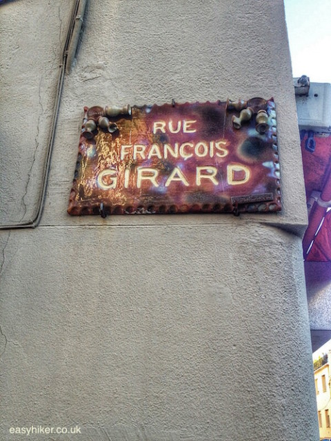 """street sign in Vallauris made of ceramics"""