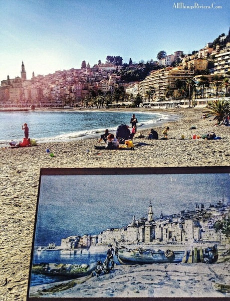 """The French Riviera on Canvas - Menton Bay"""