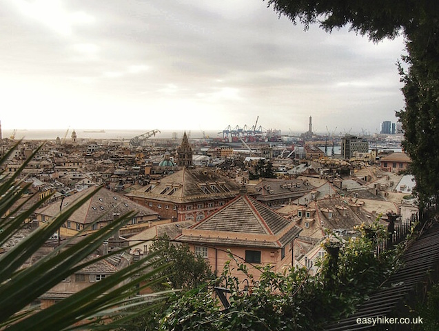 """Genoa's harbour seen from Villetta di Negro - garden with a view"""