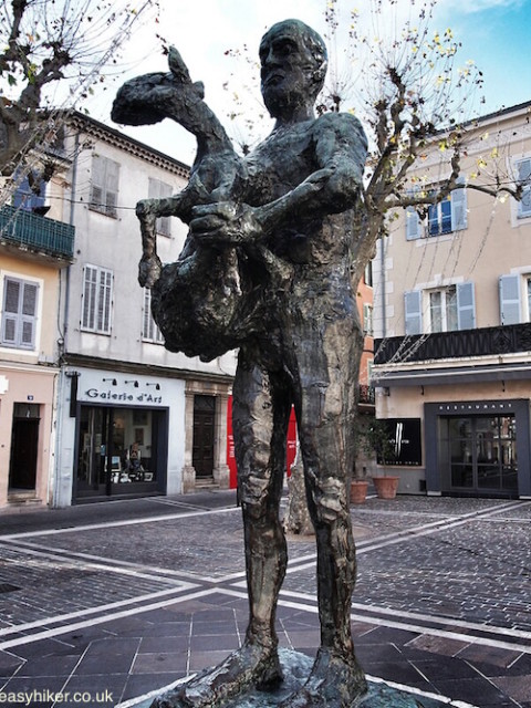 """Picasso's Man with a Sheep in Vallauris town centre"""