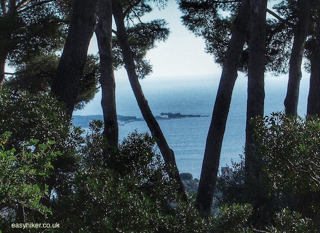 """""""Cap d'Antibes seen from the Cordula trail between Cannes and Antibes"""""""