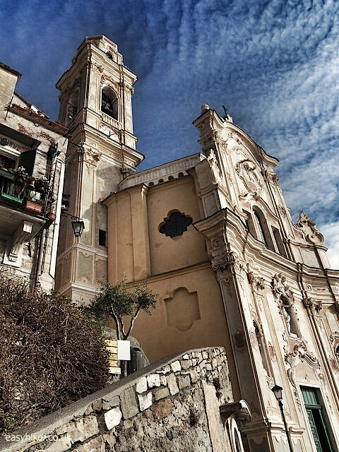 """The basilica in Cervo Italy"""
