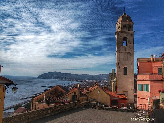"""Old town of Cervo on the Italian Riviera"""