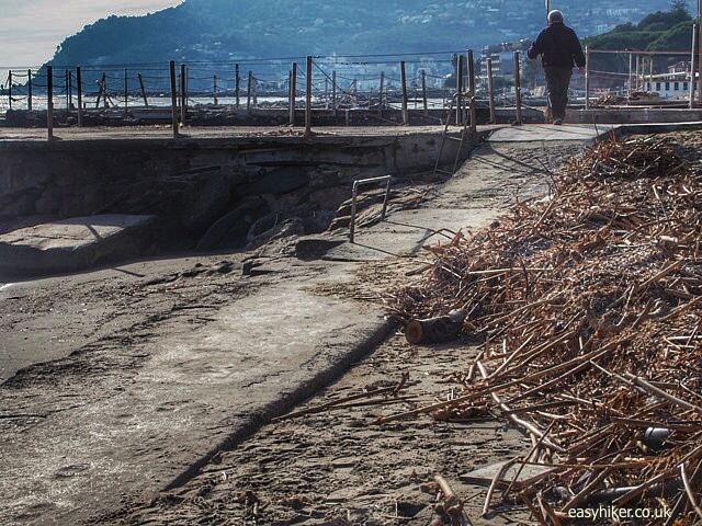 """beach debris along one of the walks on the Riviera, from Cervo to Diano Marina"""