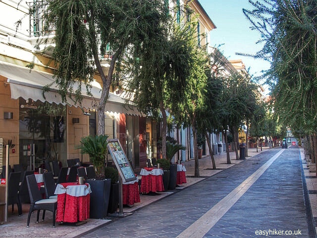 """Via Roma, main shopping street of Diano Marina"""