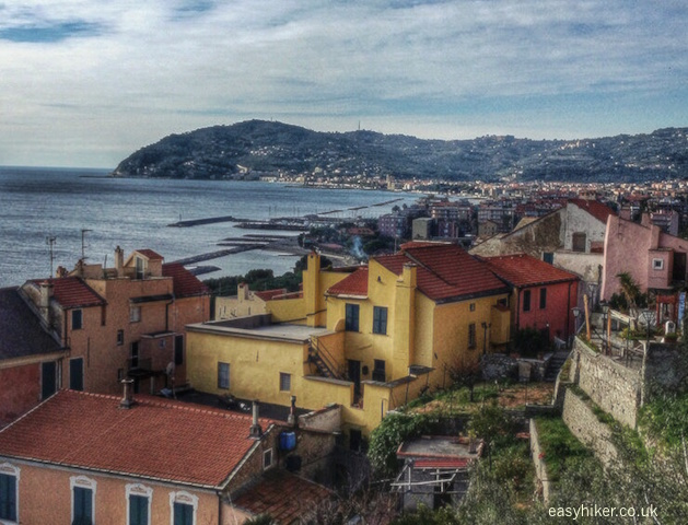 """splendid views of Cervo over its rooftops"""