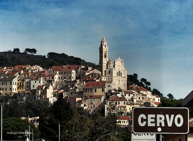 """splendid views of Cervo from the road"""