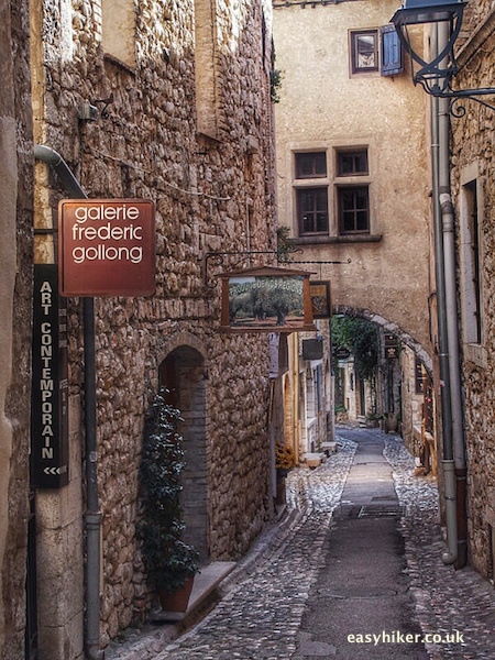 """street of art galleries in St Paul de Vence - taste of Provence"""